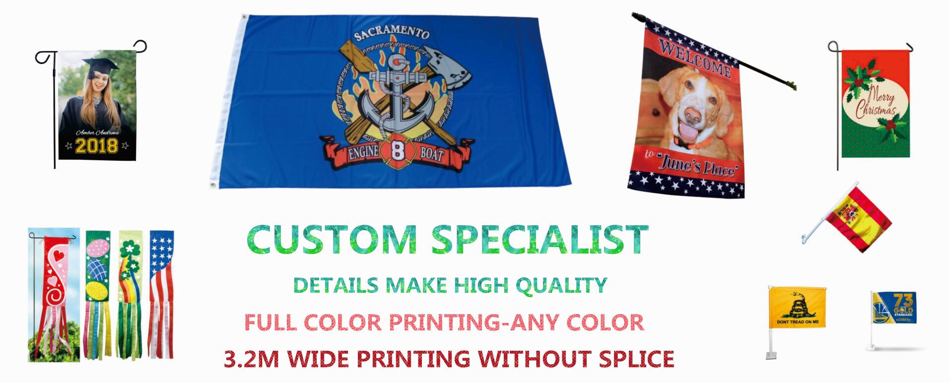 custom mini college, university, school pennants, flags and