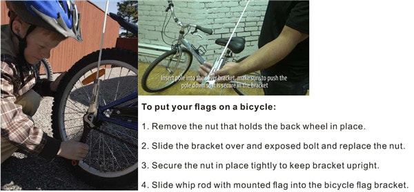 bike flag holder wholesale